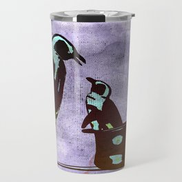 Happiness is a Penguin In A Top Hat Travel Mug
