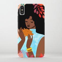 Chrysanthemums in November iPhone Case