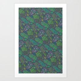 Nugs in Green Art Print