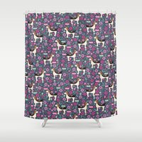 beagle Shower Curtains featuring Beautiful Beagle by robyriker