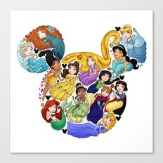 Princess Mickey Ears Canvas Print