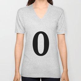 0 (BLACK & WHITE NUMBERS) Unisex V-Neck