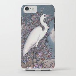 Egret in the Moonlight iPhone Case