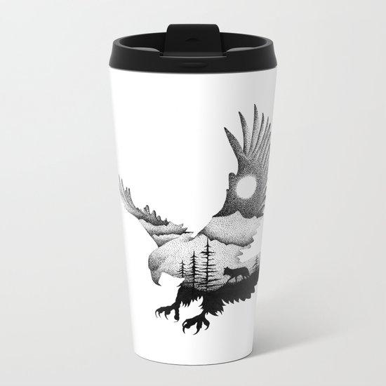 THE EAGLE AND THE FOX Metal Travel Mug