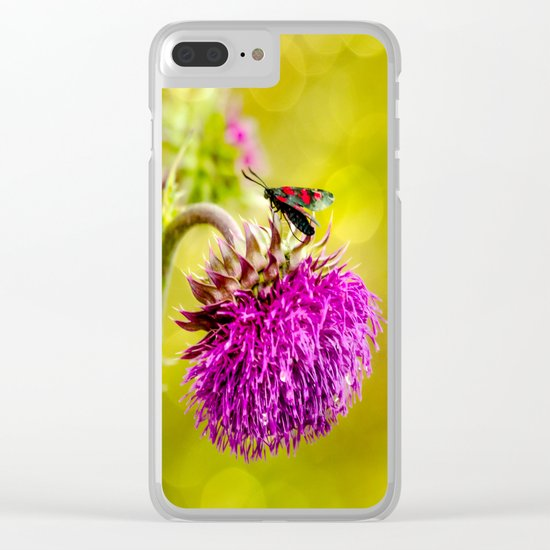 Butterfly and а thistle Clear iPhone Case