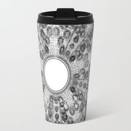 GEOMETRIC NATURE: SEA URCHIN w/b Travel Mug