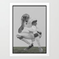 football Art Prints featuring football by Johnny Jason