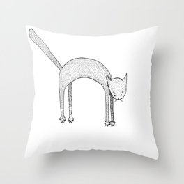 Leaping Cat Throw Pillow