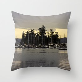 GLOWING SKY SOUTH OF WEST SOUND Throw Pillow