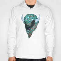 bison Hoodies featuring Bison by ejvozzola