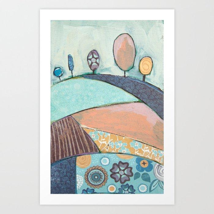 Jelly Bean Trees In A Field Art Print
