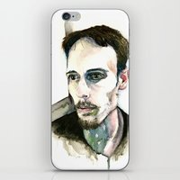 depression iPhone & iPod Skins featuring Portrait of Depression by ArtbyLumi