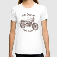 cafe racer T-shirts featuring vintage moto guzzi - cafe racer by dareba