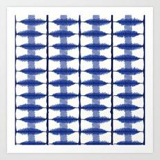Indigo Stripe Art Print