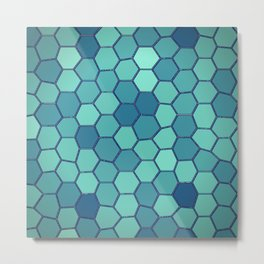 Hexal blue Metal Print