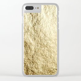 Crinkled Gold Clear iPhone Case