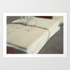 Letters To You Art Print