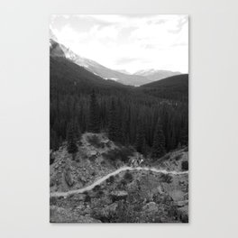 Lets Get Lost, The Valley of Ten Peaks Canvas Print