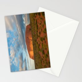 Ayers Rock at Sunset Stationery Cards