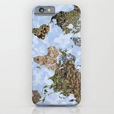 CAMO WORLD ATLAS MAP (blue) iPhone 6s Slim Case