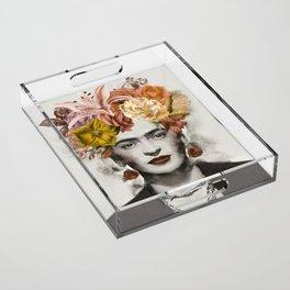 FRIDA FLOWERS Acrylic Tray