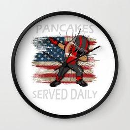 Pfannkuchen serviert täglich Lineman Wall Clock
