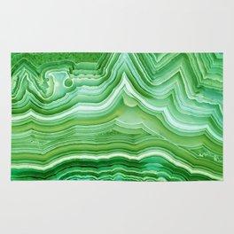 Agate crystal green Rug