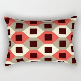 Geometric Pattern #66 (red hexagons) Rectangular Pillow