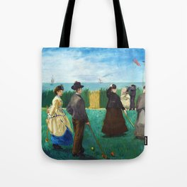 12,000pixel-500dpi - Edouard Manet - The Croquet Party - Digital Remastered Edition Tote Bag
