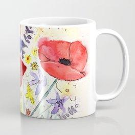 Poppy bouquet in a mason jar Coffee Mug