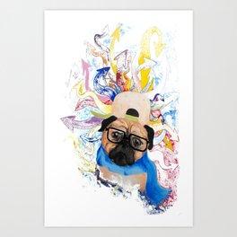 Pugz on Drugz Art Print