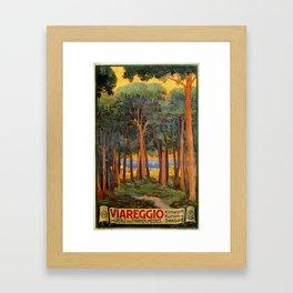 Viareggio woods and sea Framed Art Print