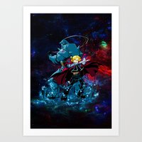 fullmetal alchemist Art Prints featuring Two Alchemist by BradixArt