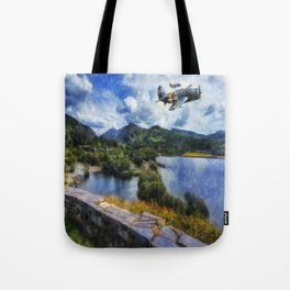 Lake Flight 1940's Tote Bag