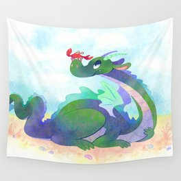 Crabby Dragon Wall Tapestry