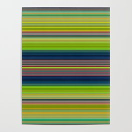 Colorful Stripes Pattern Poster