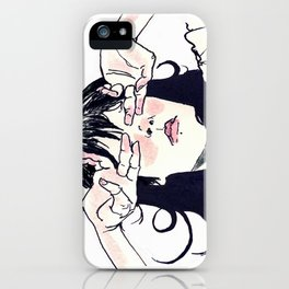 Hide Behind Connections iPhone Case
