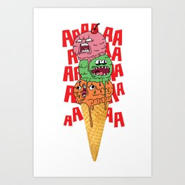 Ice Scream Art Print