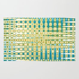 Turquoise Abstract Rug