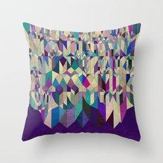 Purple Town Throw Pillow