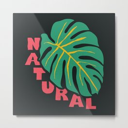 Natural, black  Metal Print