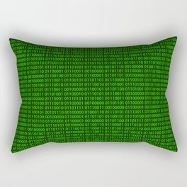 Binary numbers pattern in green Rectangular Pillow