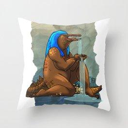 Sobek Throw Pillow