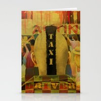 taxi driver Stationery Cards featuring Taxi Driver by David Amblard