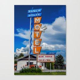 The Ranch House Motel, Vintage Motel Signs, Bozeman, Montana Canvas Print