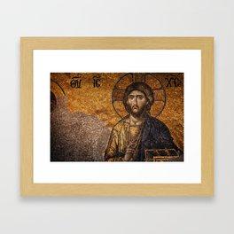 Deesis Mosaic (The Last Judgement) Framed Art Print