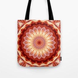 Mandala orange red no. 2 Tote Bag