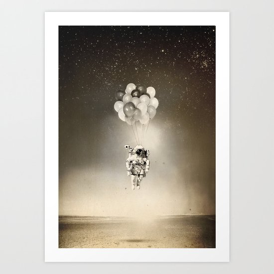 Desert & space Art Print