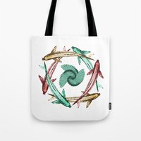 circle Tote Bags featuring Circle by DebS Digs Photo Art
