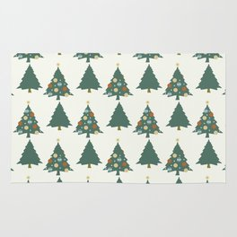 Christmas tree pattern Rug